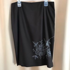 Black skirt with stitching